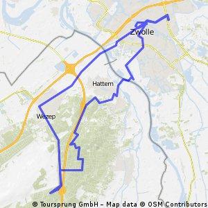 IJsselmeer Radtour Tag 9 - Von Zwolle in den Veluwe