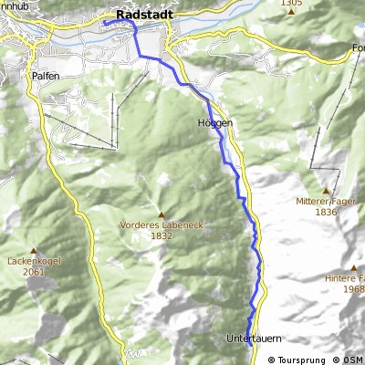 Radstadt to Untertauern Wildpark