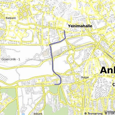 İstanbul yolu Anadolu Bulvarı Eskişehir yolu Cepa