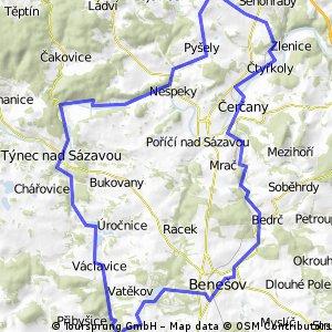 Pepi Lehká trasa Pětihosty a Benešovsko