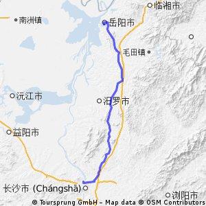 Schangshan-Yueyang 153km