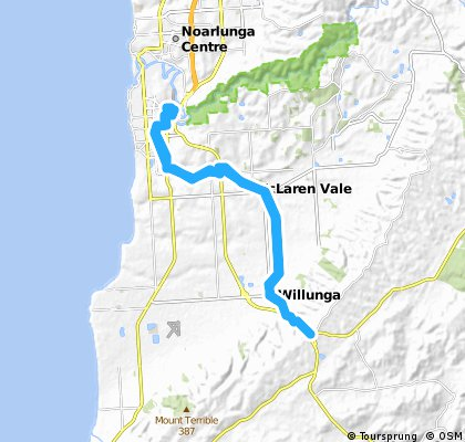 seaford to willunga hill & return