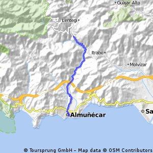 Von Almuñécar nach Otívar