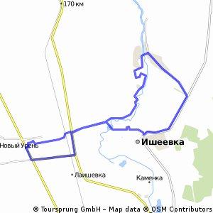 Прогулочный маршрут Тимирязевский - Ишеевка - Салмановка - Полдомасово - Ишеевка - Тимирязевский