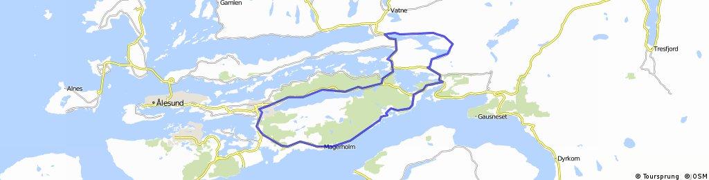 Spjelkavik - Engsetdalen - Valle - Spjelkavik