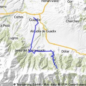 Guadix - Mirador de Aldeire - Puerto de la Ragua
