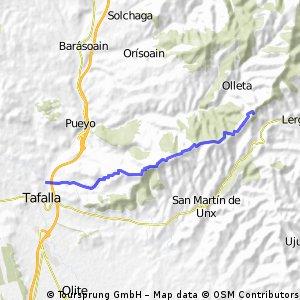 Tafalla - Alto Olleta, camino molinos