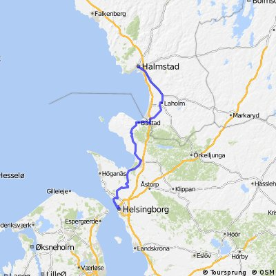 Cycling routes and bike maps in and around Helsingborg Bikemap