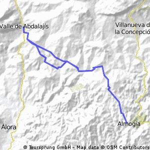 Almogia- Valle abdalaji- Almogia( con variante)