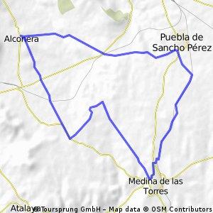 Alconera-Puebla de Sancho Perez-Medina de las Torres-Alconera