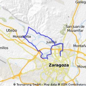 Parque Tío Jorge - Antenas Juslibol - Alfocea- Monzalarba-Parque Tío Jorge