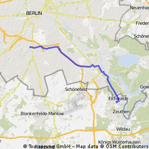Tempelhof/Eichwalde Route Ost