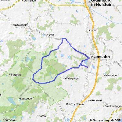Lensahn-Schönwalde-Langenhafen-Harmsdorf-Lensahn