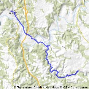 Souillac-Arcachon etape 1