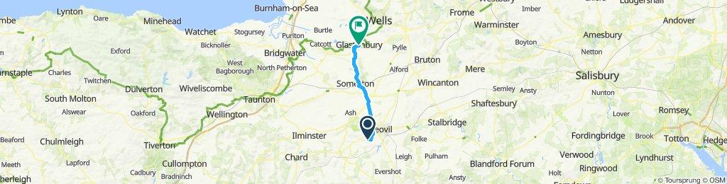 Nice route, home to Glatonbury