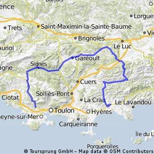Tour Méditerranéen 2012 - Stage 3 (Approximate)
