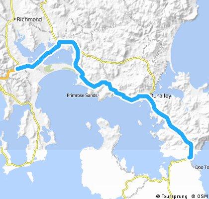 Hobart to Eaglehawk Neck