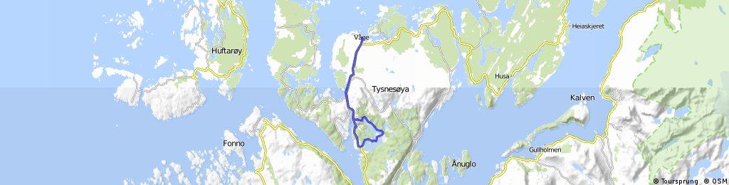 Sunnhordland: Tysnes. Flatråkervassdraget