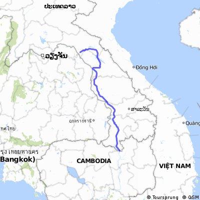 from cambodia to lak sao