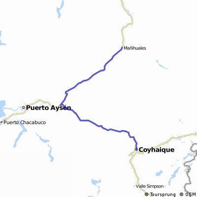 Carretera Austral, Tramo 9, Villa Mañihuales - Coyhaique