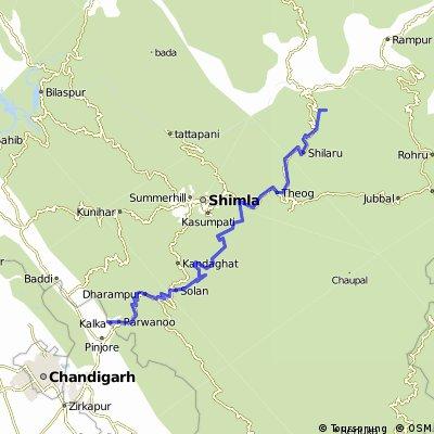 Thanedar - Kufri- Munderghat -Kalka