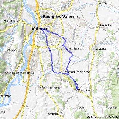 Route 4.1 Ausflug Valence