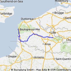 Tour de France 2012 - Stage 3 (Approximate)