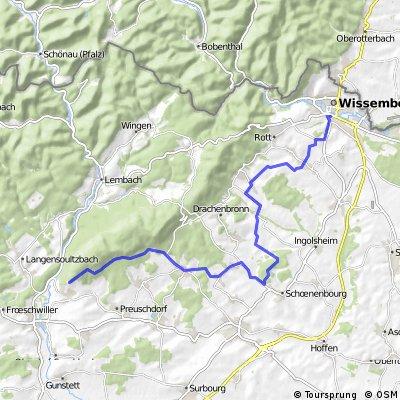 Wissembourg-Bremmelbach-Liebfrauenberg (teils Jakobsweg)