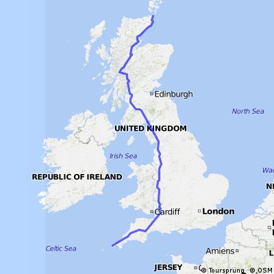 John O'Groats to Lands End Adj1 CLONED FROM ROUTE 719719