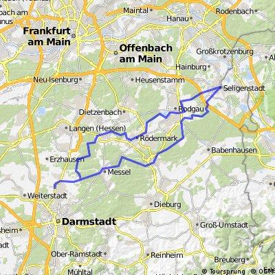 Darmstadt - Seligenstadt - Darmstadt