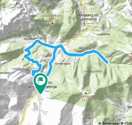 Ze St.Martin do údolí Neubachtal,přes Lammertal zpět CLONED FROM ROUTE 567925