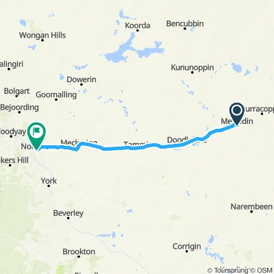 Merredin to Northam