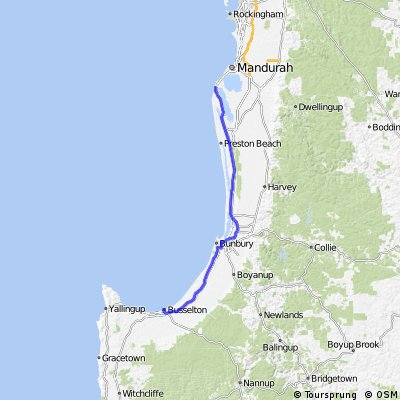 Dawesville to Busselton