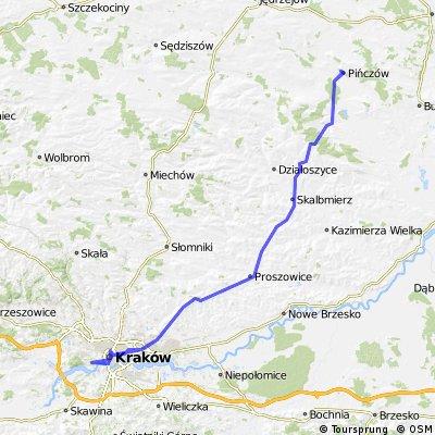 167 km Pińczów - Kraków - Pińczów
