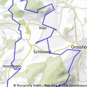 Schlosswil - Änggist - Enggistein - Müli - Ballenbühl - Grosshöchstetten - Thali - Schosswil
