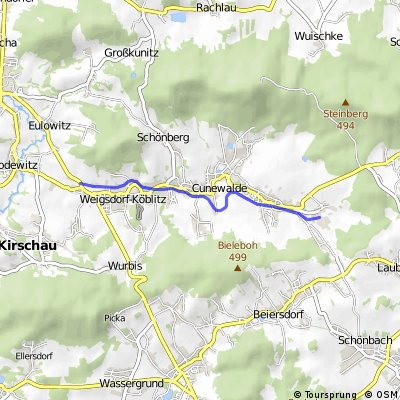Cunewalde, Alte Bahnstrecke