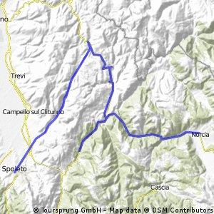 Spoleto - Cascia - Norcia - Spoleto