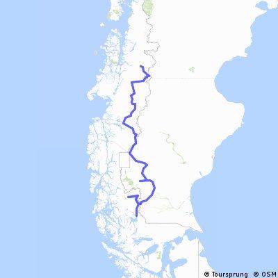Coyhaique a Puerto Natales