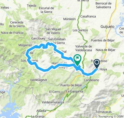Vallejera de Riofrio- Miranda del Castañar-Vallejera de Riofrio.