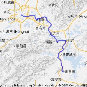 南昌 to 武漢 (Nangchang to wuhang)