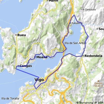 Vigo-Redondela-Arcade-Vilaboa-Cangas-Vigo