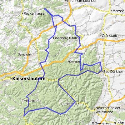 Z3.1 Bastenhaus - Johanniskreuz - Elmstein - Bad Dürkheim - Eisenberg - Bastenhaus