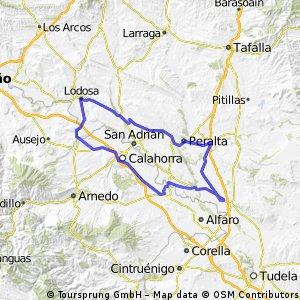 Cadreita-Peralta-Andosilla-Lodosa-Pradejón-Calahorra-Cadreita