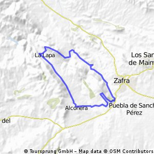 ALCONERA-SIERRA DEL CASTELLAR-BELEN-RIBERA DE ZAFRA-LA LAPA-ALCONERA