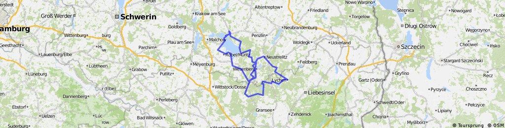 Rundtour Mecklenburger Seenplatte (6 Radtage)