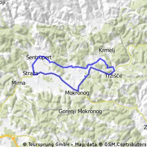 Dokaj ravna pot čez okolico Mirnske doline