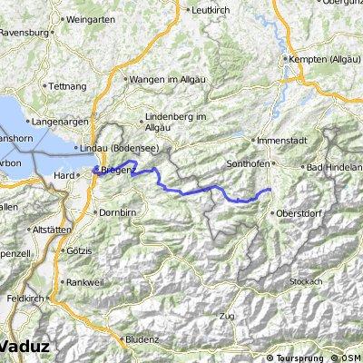 Bregenz - Riedbergpass - Fischen (Allgäu)