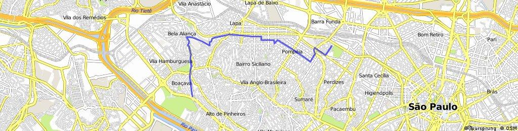 Perdizes>Villa Lobos (via ciclo rota) CLONED FROM ROUTE 1395555