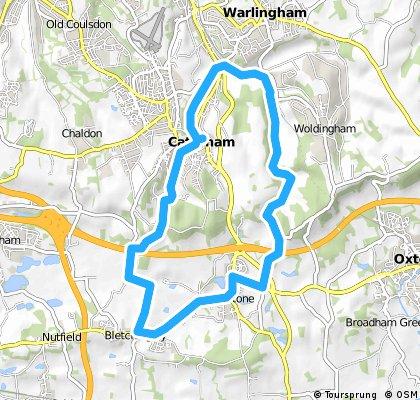Caterham/Bletchingley/Godstone/Woldngham short loop