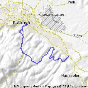 Cycling routes and bike maps in and around Ktahya Bikemap Your